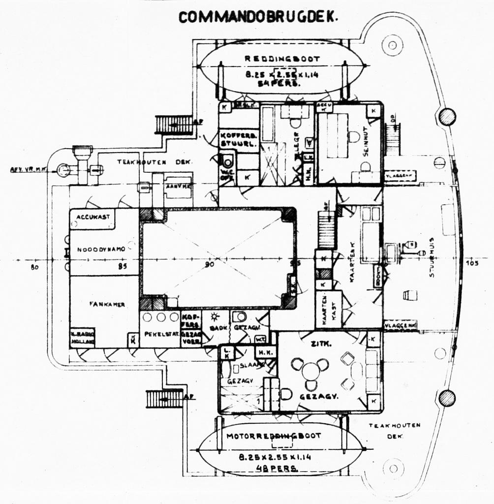 algemeen plan schip